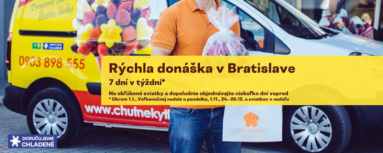 Rýchla donáška - V Bratislave a okolí