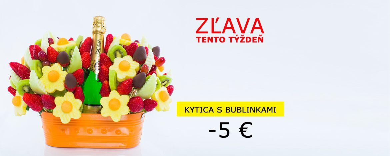 Akcia - Kytica s bublinkami so zľavou 5 €