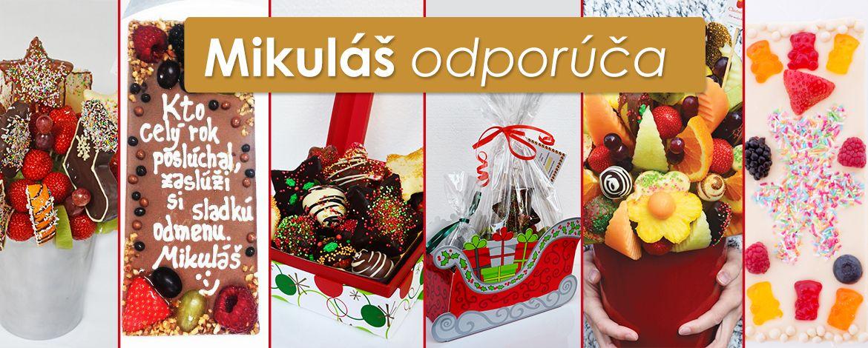 Mikuláš odporúča - Najobľúbenejšie vocné kytice a bonboniéry na Slovensku