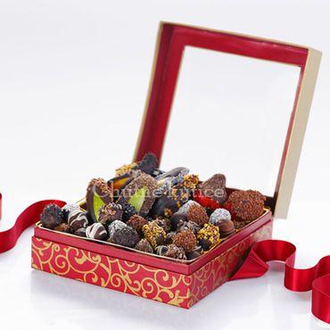 Jesenné ovocie v čokoláde