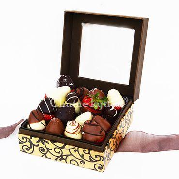 Slané jahody v čokoláde